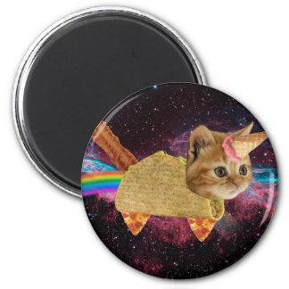 Aimant Chat de licorne - chat de taco - chat de l'espace