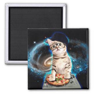 Aimant chat du DJ - chat de l'espace - pizza de chat -