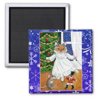 Aimant Chat mignon, ballet de casse-noix, Noël, souris