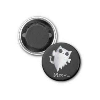 Aimant Chat mignon de fantôme de Halloween