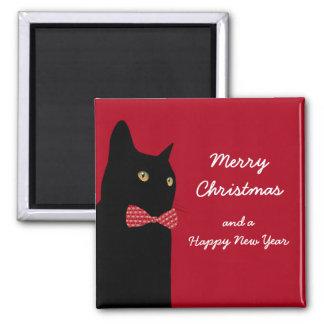Aimant Chat noir de Joyeux Noël