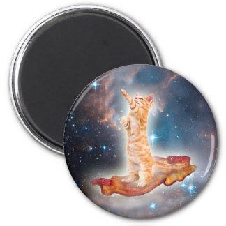 Aimant Chat surfant de lard dans l'univers
