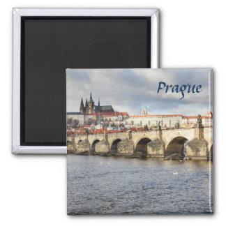 Aimant Château de Prague et photo de souvenir de pont de