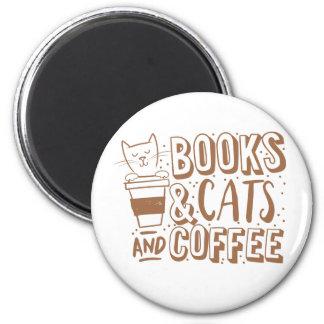 Aimant chats et café de livres