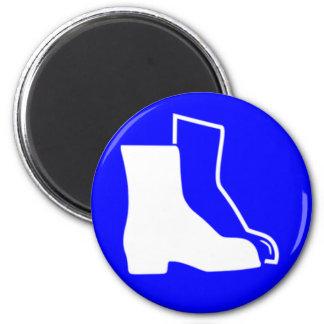 Aimant Chaussures de sécurité bleues