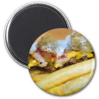 Aimant Cheeseburger et fritures
