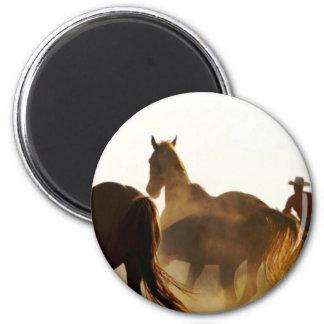 Aimant cheval de lasso de cowboy