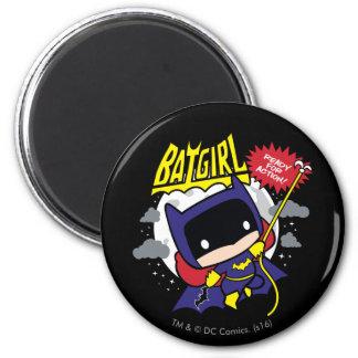 Aimant Chibi Batgirl prêt pour l'action