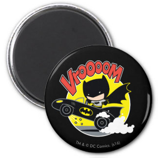 Aimant Chibi Batman dans le Batmobile
