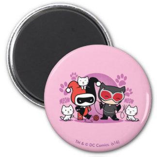 Aimant Chibi Harley Quinn et Catwoman de Chibi avec des