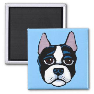 Aimant Chien mignon, chiot de bull-terrier de Boston