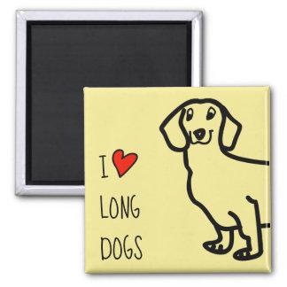 Aimant Chiens de chien de teckel longs d'amour drôle