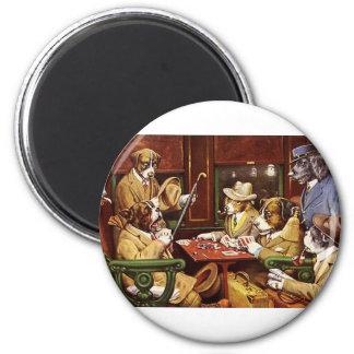 Aimant Chiens jouant au poker
