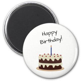 Aimant Chocolat de joyeux anniversaire et gâteau de