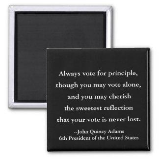 Aimant Citation du Président John Quincy Adams sur le