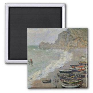 Aimant Claude Monet | Etretat, plage et d'Amont de Porte