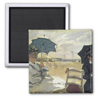 Aimant Claude Monet | la plage chez Trouville, 1870