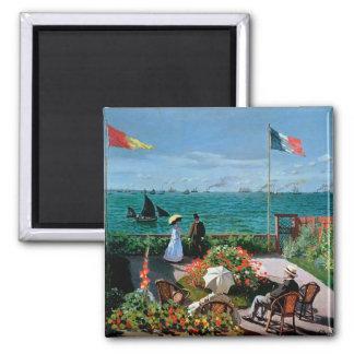 Aimant Claude Monet | la terrasse chez Sainte-Adresse,