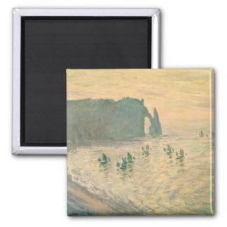 Aimant Claude Monet | les falaises chez Etretat, 1886