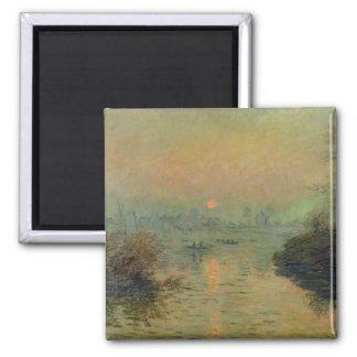 Aimant Claude Monet | Sun plaçant au-dessus de la Seine