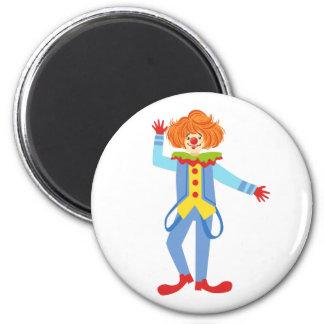 Aimant Clown amical coloré avec des bretelles dans le