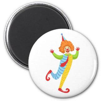 Aimant Clown amical coloré avec la cravate dans
