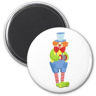 Aimant Clown amical coloré avec l'accordéon miniature I