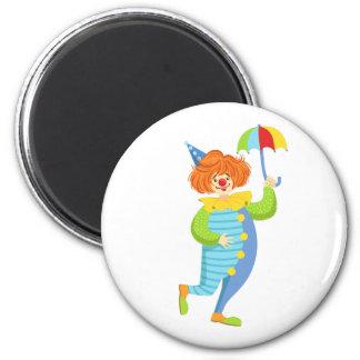 Aimant Clown amical coloré avec le mini parapluie
