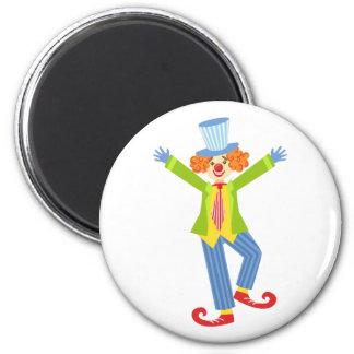 Aimant Clown amical coloré avec les chaussures courbées