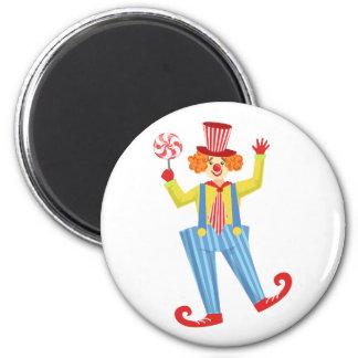 Aimant Clown amical coloré avec Lollypop en O classique