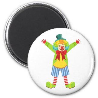 Aimant Clown amical coloré avec multicolore