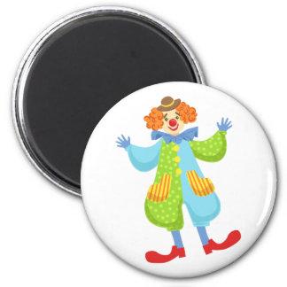 Aimant Clown amical coloré dans le casquette de lanceur