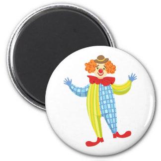 Aimant Clown amical coloré dans le casquette et le