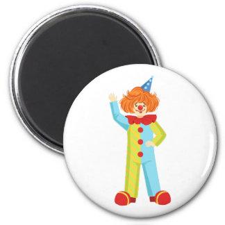 Aimant Clown amical coloré dans le classique Outfi de