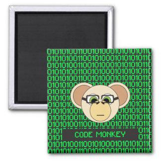 Aimant Codez la jungle animale de codeur de programmeur
