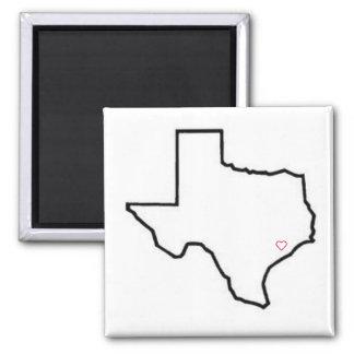 Aimant Coeur d'aimant du Texas