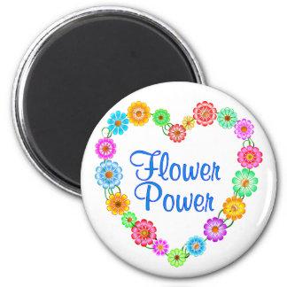 Aimant Coeur de flower power