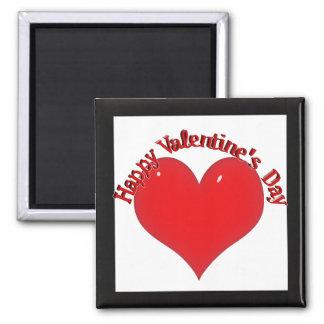 Aimant Coeur rouge brillant Valentine