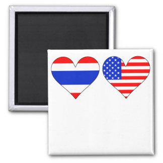 Aimant Coeurs américains thaïlandais