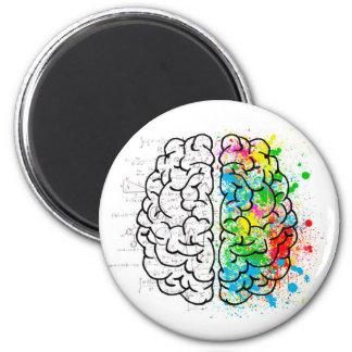Aimant coeurs d'idée de psychologie d'esprit de cerveau
