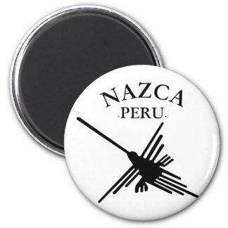 Aimant Colibri de Nazca Pérou avec le texte incurvé
