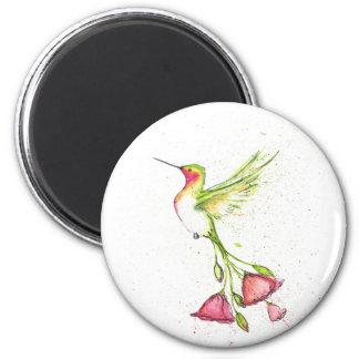 Aimant colibri de queue de fleur