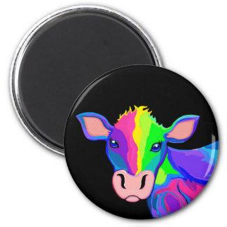 Aimant coloré de vache à arc-en-ciel