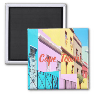 Aimant coloré de vue de rue de Chambres de Cape