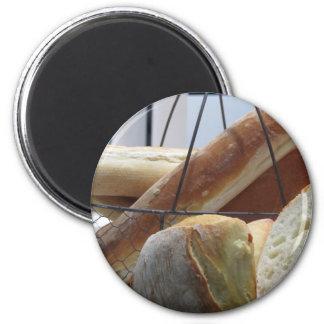 Aimant Composition avec différents types de pain cuit au