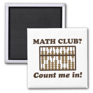 Aimant Comptez-moi dans le club de maths