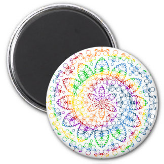 Aimant Conception colorée de remous de mandala