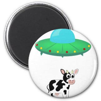 Aimant Conception d'abduction de vache à UFO