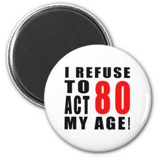 Aimant conception de 80 anniversaires