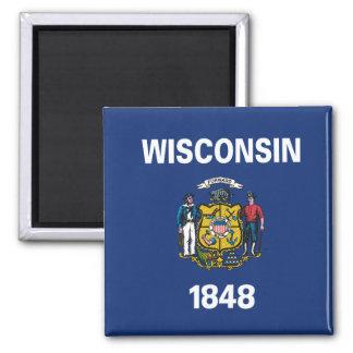 Aimant Conception de drapeau du WISCONSIN -